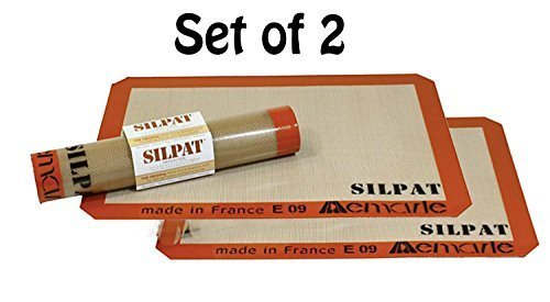 Silpat Non-Stick Silicone Jelly Roll Pan Baking Mat (2, 14 1/2-Inch by10-Inch) by Silpat - Silpat Non-stick Baking Mat