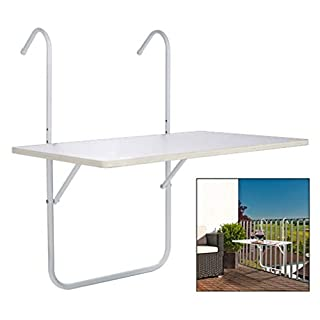 amara-global Foldable hanging balcony Hanging Table For Balcony 60 x 40 CM