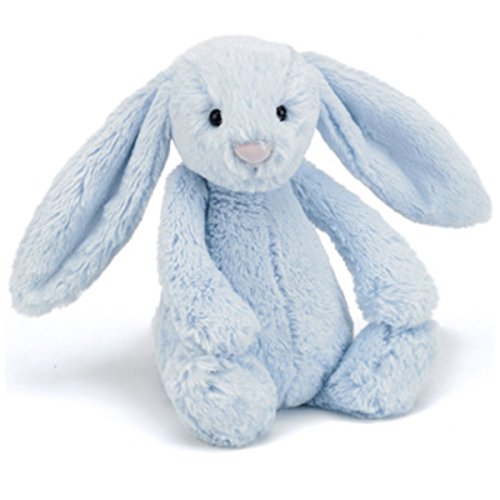 Image of Baby soft toy/comforter - medium blue bunny