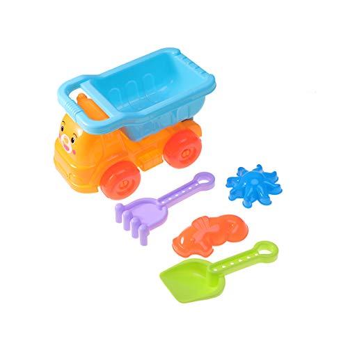 Toyvian 5 Stücke Strand Spielzeug Spielset Strand Sandkasten Spielzeug mit Muldenkipper, Schaufel, Rechen, Sand Formen Spielzeug für Kinder