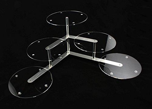 Aluminium Acryl Plexiglas Tortenetagere Tortenständer Rund Hochzeit 3 Etagen 5 Platten Ø 30 cm Etagere Buffet Buffet Platte