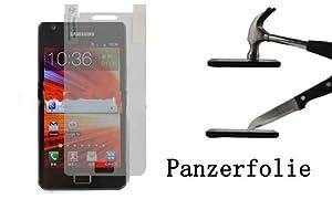 Panzerfolie klar für Samsung Galaxy S2 SII i9100 Display Schutz Folie NEU!