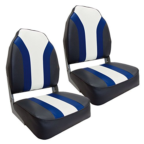 Waterside2er Set High Back Pro Bootssitz (Boat Seat) Blueline Test