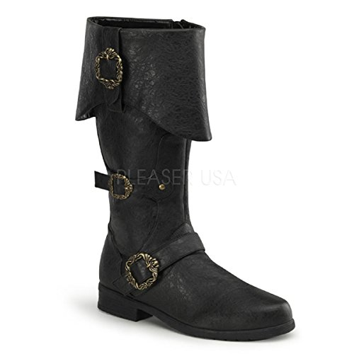 Funtasma Piratenstiefel Carribean-299 schwarz Gr. (Stiefel Piraten Herren)
