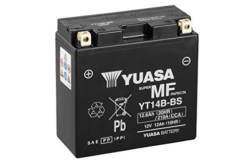 YUASA BATERIA YT14B-BS AGM abierto - con paquete de ácido