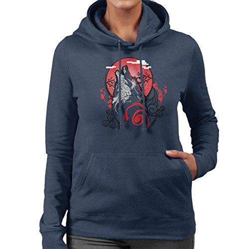 Goddess Of The Sun Women's Hooded Sweatshirt Navy blue