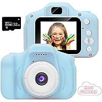 Fotocamera per bambini CAMARO, videocamera/video HD 1080p, schermo LCD da 2 pollici, IS viene fornito con scheda di memoria 32G (BLUE-20)