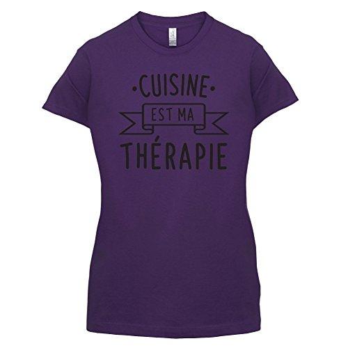 La cuisine est ma thérapie - Femme T-Shirt - 14 couleur Violet