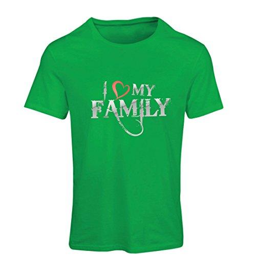 gartige Designer Hemden Zeigen Ihre Liebe - fantastisches zusammenpassendes Kleid der Familie (Large Grün Mehrfarben) ()