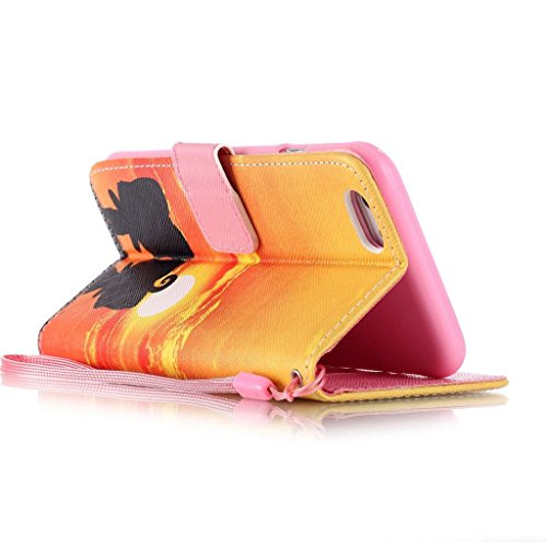hyait® Case for iPhone 6Plus/6S Plus (5.5Inch) Printing Series Wrist Strap Leather Wallet Card Slot Bracket Flip Back Case Cover yb12 YB08 #0305