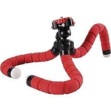 Rollei Monkey Pod - Mini Trípode flexible/compacto y ajustable con cabeza esférica, color rojo