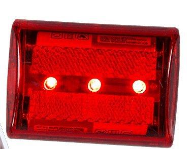 LED Sicherheitslicht in rot Für Jogger Jäger Kinder im Strassenverkehr für den Ranzen