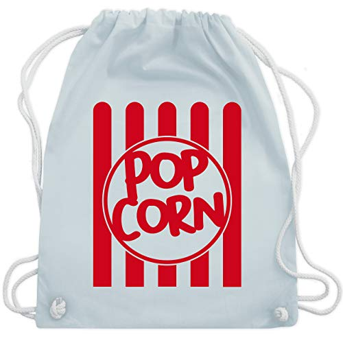Gestreiften Rock Kostüm - Karneval & Fasching - Popcorn Karneval Kostüm - Unisize - Pastell Blau - WM110 - Turnbeutel & Gym Bag