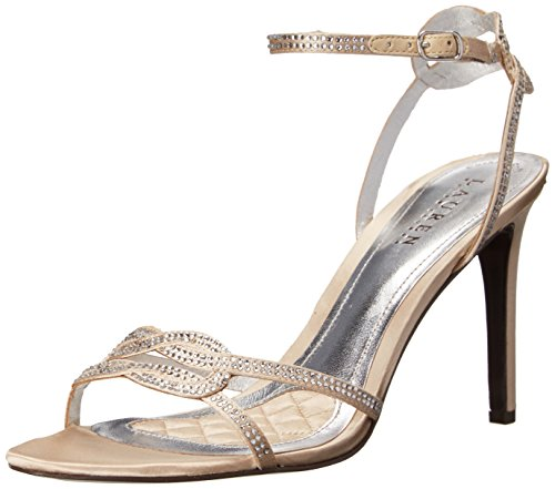Lauren Ralph Lauren Stephanie Dress Sandal Champagne Satin/Stones