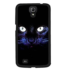 Fuson 2D Printed Cat Designer back case cover for Samsung Galaxy Mega 6.3 I9200 - D4508