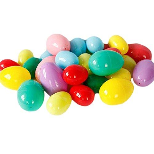 Uova di pasqua in plastica vuote da riempire per fai da te fare favales feste giocattoli di pasqua per i bambini set 6pz-colori assortiti, plastica, 12pcs, 6cm × 4cm