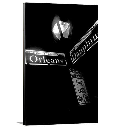 artzee Designs Home Décor fertig zum Aufhängen Geschenkidee Travel Lousiana New Orleans Street Sign Leinwand Fotografie Wand Kunst 40,6x 50,8cm Multicolor, 40,6x 50,8cm
