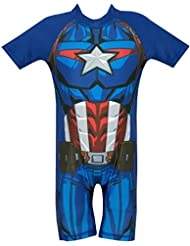 Marvel Avengers Boys Captain America Swimsuit Ages 18 Months to 5 Years