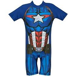 Marvel Avengers - Bañador para niño - Captain America - 3 - 4 Años