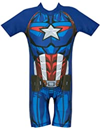 Marvel Avengers Boys Captain America Swimsuit Ages 18 Months to 7 Years 31a0b7d9b