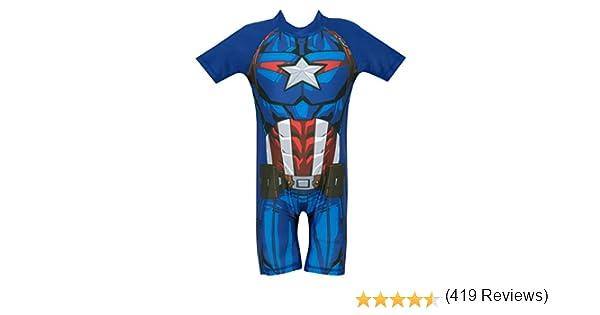 Costume da Bagno per Ragazzi Marvel Avengers Capitan America