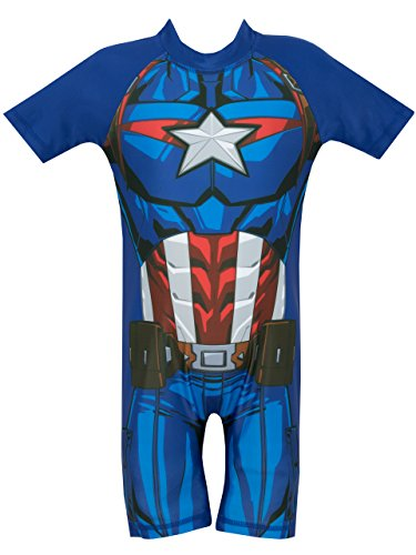 Marvel Avengers - Bañador para niño - Capitan America - 2-3 Años