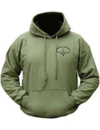 Mens US Army Combat Military Hoodie Hooded Para Parachute Regiment Wings Print Printed Sweat Shirt Top Sweatshirt Fleece