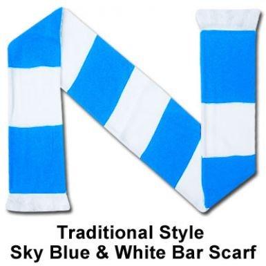 Sky Blue & White Bar Schal (Bar Coventry)