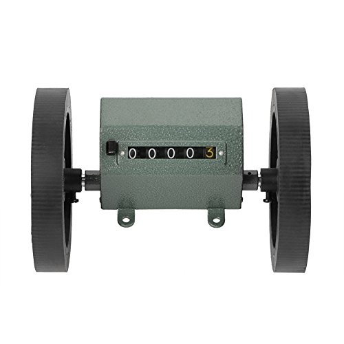 Hilitand Mechanische Längenzähler Meter Counter Rolling Wheel 5 Stellen 0-9999,9m zum Zählen Messlänge, Max. Geschwindigkeit 200RPM Z96-F - Breite Zähler Einheit