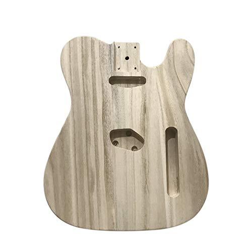 Kalaok Tipo de madera pulida Guitarra eléctrica Barril DIY Cuerpo eléctrico de...