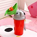 sensadore Baby Boy Potty Toilet Training Frog Children Stand Vertical Urinal Boys Penico Pee Infant Toddler Wall-Mounted : Red