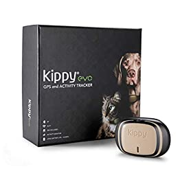 Kippy EVO, Il nuovo GPS and Activity Monitor per cani e gatti, 38 gr, Impermeabile, Batteria 10 gg