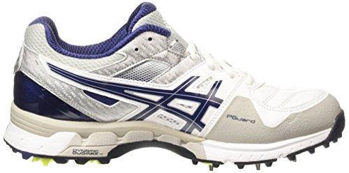 Asics Gel-220 Not Out, Chaussures de Cricket homme Blanc (white/indigo Blue/silver 0149)