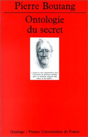 Ontologie du secret par Pierre Boutang