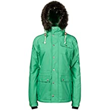 Protesta de la mujer Snooki nieve chaquetas, mujer, color verde, tamaño L (talla 40)