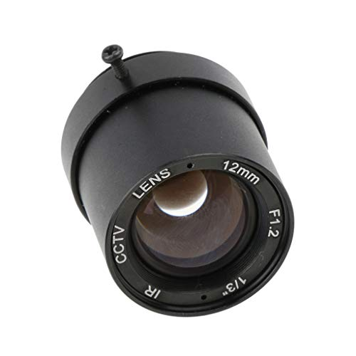 non-brand gazechimp 1/3 '' 12mm F1.2 1MP CS Halterung Fixed IRIS CCTV Objektiv Für CCD Kamera 12 Mm Fixed Iris