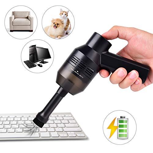 Funkprofi Handstaubsauger Auto, Kabellos Tastatur Staubsauger Mini USB Staub Reinigungs Set für die Lücke von Tierhaare, Laptop, Sofa.