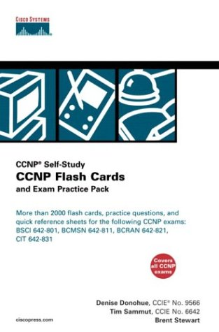CCNP Flash Cards and Exam Practice Pack (CCNP Self-Study, 642-801, 642-811, 642-821, 642-831) por Brent Stewart