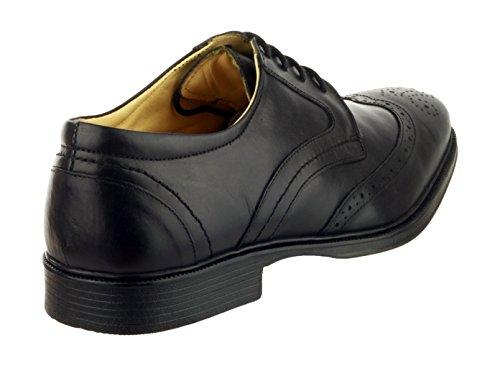 Cotswold Uomo Mickleton Scarpe Francesine Stringate In Pelle Tacco Basso Black