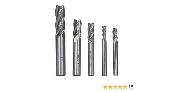 CNC Drehmaschine Fr/äser Schaftfr/äser Bohrer 4 Fl/öten Wolfram Stahl Schaftfr/äser f/ür Holz Aluminium Metall 2,5mm