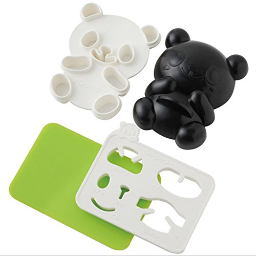 austinstore DIY Cute Panda Form Reis Sushi Cookie Form Cutter Sandwich Maker Backen Werkzeug, plastik, einfarbig, 4Pcs/Set (Anzahl Sandwich-cutter)