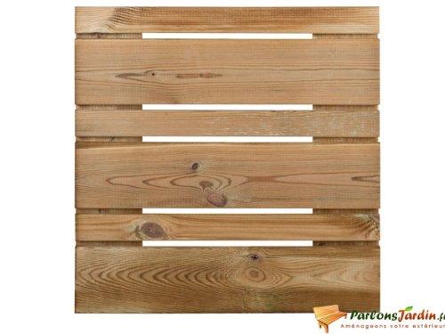 Dalle de terrasse en bois lisse asymétrique 50
