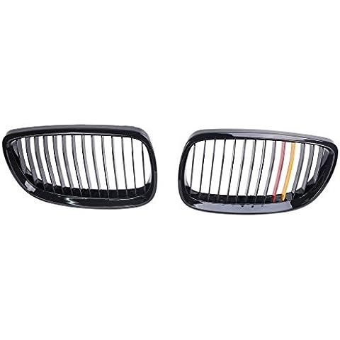 SENGEAR - Rejillas Frontales Parrillas Delanteras del Capó Grill para BMW Series-3 M3 E92 E93 Coupe Convertible Pre-Facelift (2007 2008 2009 2010 2011 2012 2013)
