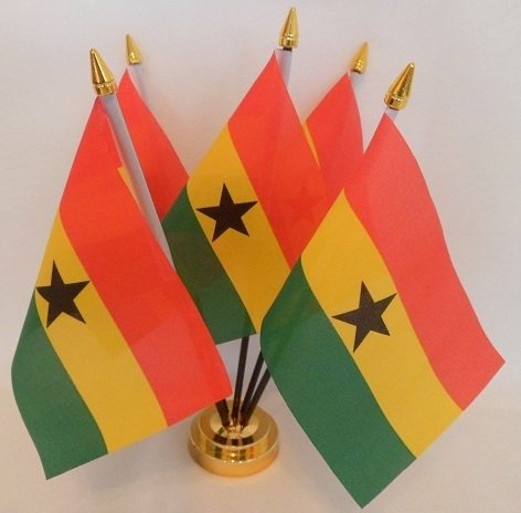 Ghanaische Flagge Ghana 5 Table Desktop-Display, Gold