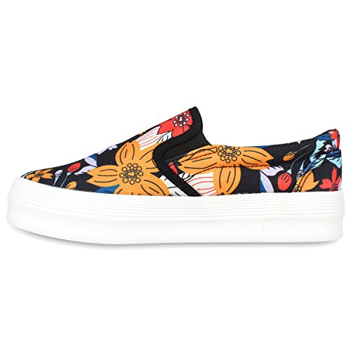 ons Pintura Senhoras Sapatos De Deslizamento Coloridas Pretas Plataforma Briga Chinelo Dandy Flores 1q65Hwx6