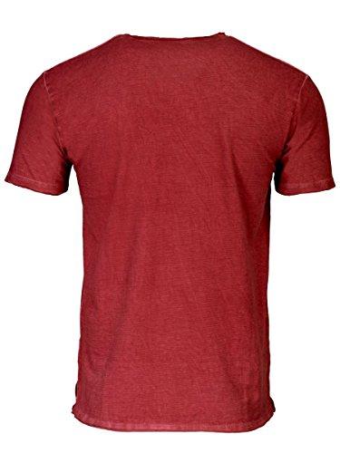 TREVOR'S KAI Herren T-Shirt mit V-Ausschnitt und Rippenstruktur aus 100% Bio-Baumwolle - soziale fair trade Kleidung, Mode vegan und nachhaltig Color kir-royale, Size S - 2