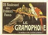 Affiches 50X70cm PUB RETRO LE GRAMOPHONE MACHINE PARLANTE
