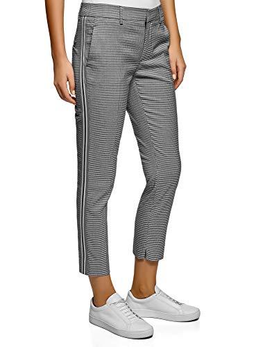 Oodji Collection Mujer Pantalones Ajustados Inserciones