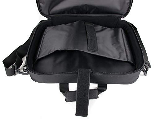 DURAGADGET Black Laptop Briefcase Bag With Multiple Compartments for the HP 15-f233wm
