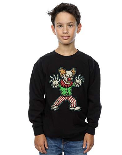 Absolute Cult Drewbacca Jungen Evil Clown Sweatshirt Schwarz 5-6 Years Clown Kinder Sweatshirt
